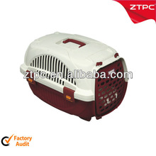 Plastic cat pet cages with door and feeding bowl