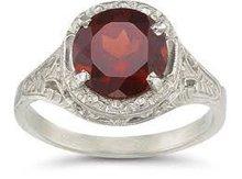 Red garnet rings