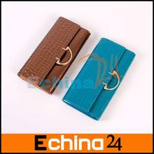 Genuine Leather Wallet Long Wallet Purses for Women Fashion Ladies Wallet