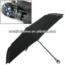 Skull Style Rain / Sun Umbrella with LED Light Handle