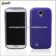 Dust plug subtransprent PC rubber case for Samsung Galaxy S4
