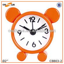 2 inch Metal Quartz Alarm Clock