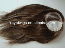 Fationable Fine Mono 100% Human Hair Women Toupee
