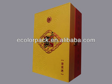 manufacture PU leather wooden gift wine box for sale