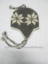 Hand Knitted Woolen Flower Hat