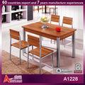 A1228 ventas directas de la fábrica de mesa de madera maciza pedestal