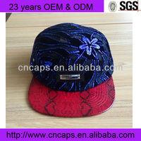Cap with back flap snap back cap hat