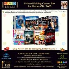 High Strength Duplex Mono Carton for Movies CD & DVD