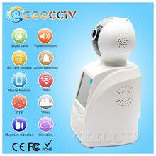 HD wireless wifi video call ip camera with alarm module support TF Card/USB flash drive IR night vision