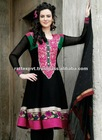 WOmens Black Frock Kurti Suit