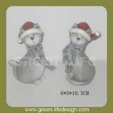 Lovely Terracotta Christmas cats ornament