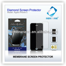 Factory high quality diamond screen protector, excellent screen guard for iPhone 5, professional cell phone screen protector