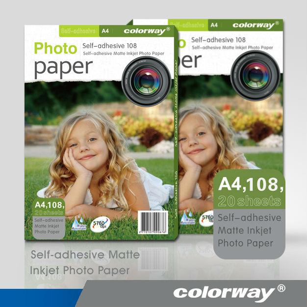 hot sale Self-Adhesive Paper & Matte Coated Inkjet Photo Paper