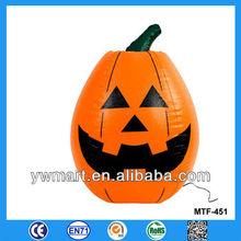 Giant plastic decoration using halloween inflatable pumpkin