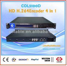 hdmi encoder iptv, MPEG4AVC/H.264 High Profile code format 4 channel HD encoder COL5100D