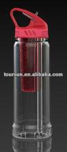 BPA free tritan fruit-infuser water bottle with spout