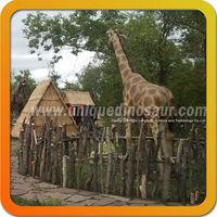 Animal park fiberglass giraffe for sale