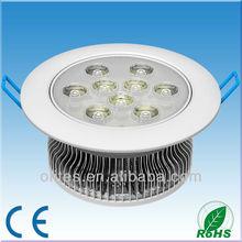 9W LED Down light warm white 2700K, Bridgelux LED chip 50x50mil