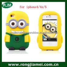 Despicable me2 minion case 3d silicone case for iphone
