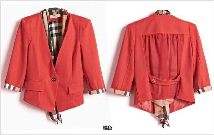 abrigos y chaquetas de primavera 2014 color rojo nuevo estilo