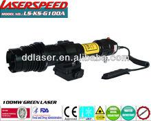 Tactical Low temperatures long distance 100mw green laser designator/manufacturer of tactical gear
