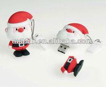 2013 PVC Christmas Day promotional gifts 2gb,4gb,8gb,16gb usb memory stick Santa Claus