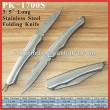 "(PK-1700S) 3.5"" Fully Stainless Steel the Old Pocket Folding Knife"