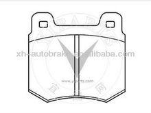 auto spare parts brake pads D99 for Audi