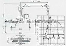 dongfeng EQ1061T14DJ2A 5610*1990*2670 competitve Truck mounted Crane