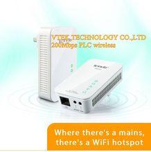 200Mbps IEEE 802.11b/g/n Wireless HomePlug Powerline AV Wifi Powerline Communication