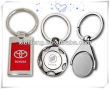 nuovo elegante logo vettura catena chiave del metallo
