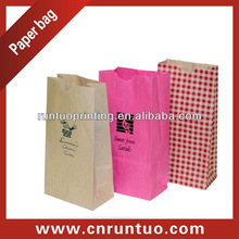 Pink Paper Lunch Bags