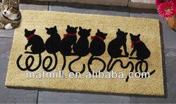 Lucky cat rubber custom welcome mats/Front Door Doormat