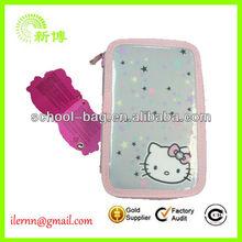 high quality kids cute clear PVC pencil case