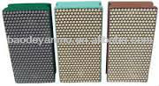 diamond and CBN dry hand polishing pads for furniture