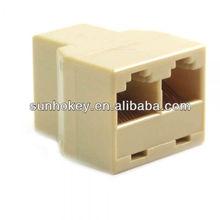Rj45 3 forma de rede de cabo divisor fêmea rj45 para 2 rj45 feminino ethernet lan cabo splitter plug-acoplador extensor