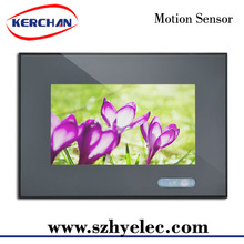 7 inch motion activated lcd built in media player