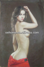 Nude girl oil paintings with hand made and high quality