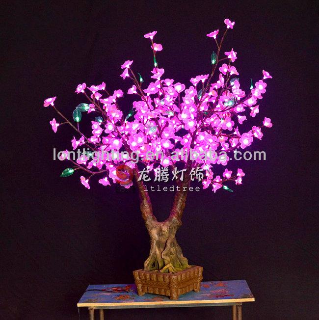 Silk Bonsai Trees Led Bonsai Silk Flower Tree
