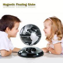 Christmas gift, Magic Floating Globe gift wicker basket