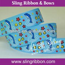 Dolphin And Shellfish Printed Ribbon Garment Accessory