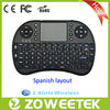 Best selling Spanish layout wireless keyboard with touchpad