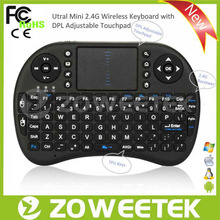 Best selling Turkish layout wireless keyboard with touchpad