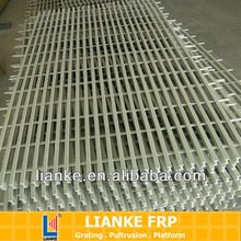 corrosion resistant fiberglass smooth grating floor trench covering