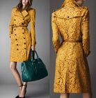 High-end designer dust coat.women fashion lace long coat