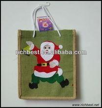 full color custom printed jute tote bags/shopping bags