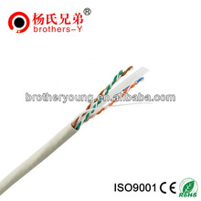 0.45~0.51mm solid copper cca 24awg best price utp cat 6 lan cable