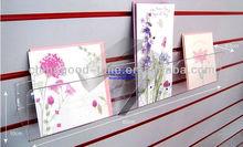 Many color Cherry melamined MDF slatwall shoe shelf for sale