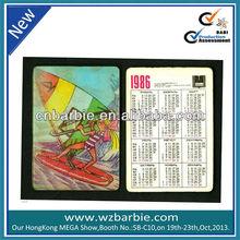 3d depth lenticular card with calendar
