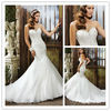 WD-1542 Dazzling sweetheart neckline heavy hand sew beading white wedding dress mermaid